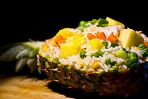 Pineapple fried rice - a delicious, quick, easy dish